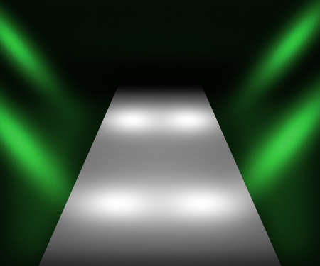 Green Catwalk Background photo