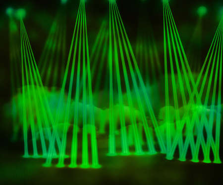 Green Laser Stage Background photo