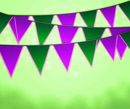 Green Carnival Flags Background photo