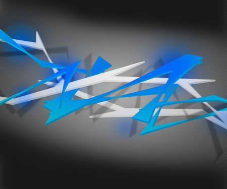 Blue Spiky Abstract Background Stock Photo - 16755563