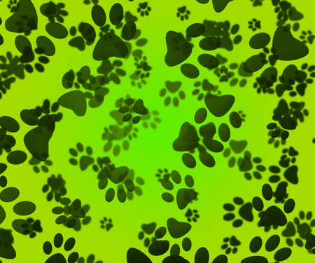 Dog Paws Green Background Stock Photo - 16755517