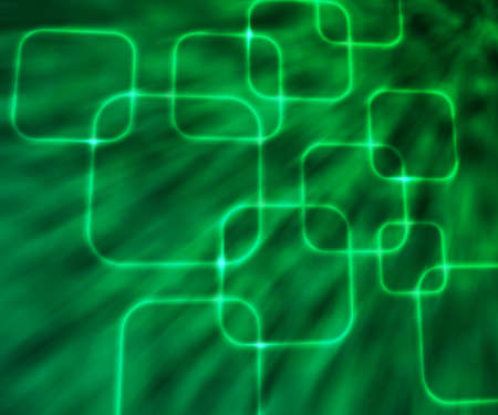 Green Glowing Squares Abstract Background photo