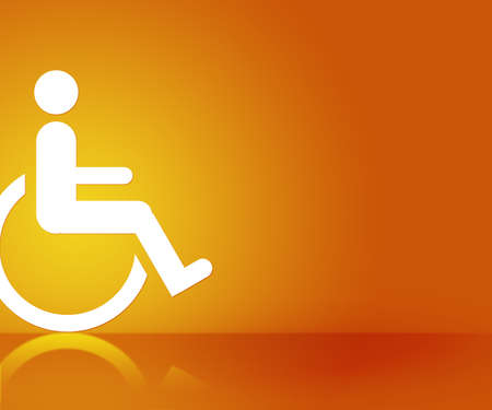 Orange Disability Background photo