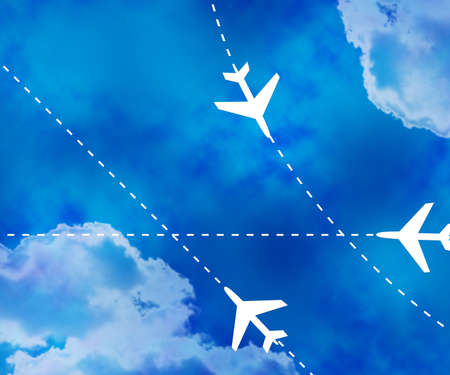 Flight Paths Sky Background photo
