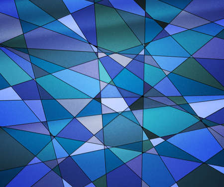 Blue Stained Glass Texture photo
