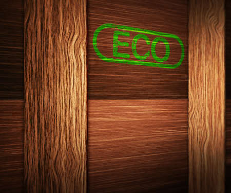 Eco on Wooden Box photo