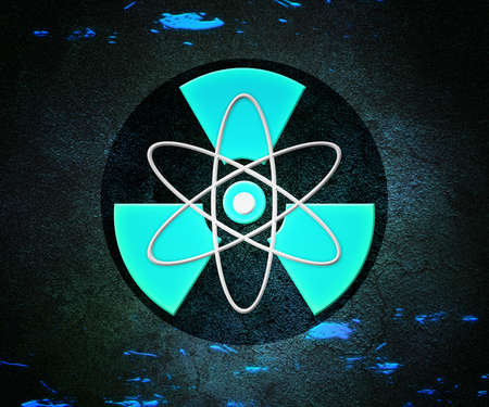 Blue Atom Radioactive Background photo