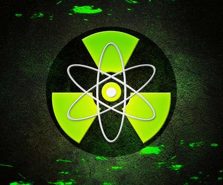 Green Atom Radioactive Background Stock Photo - 17075490