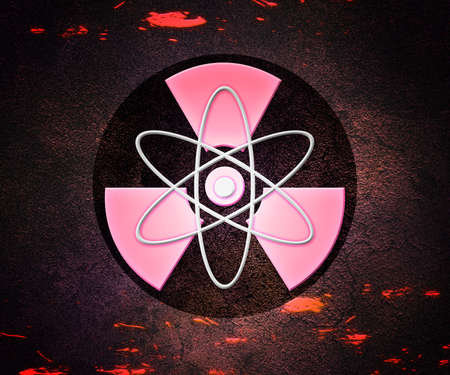 Red Atom Radioactive Background Stock Photo - 17075491