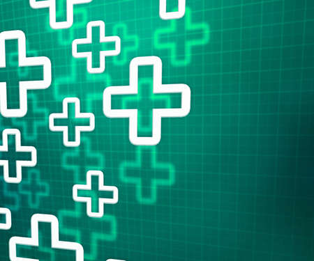 Medical Cross Green Background photo