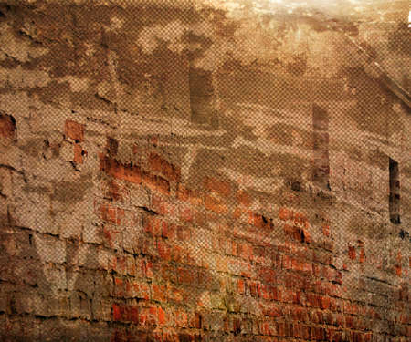 Orange Grunge Urban Wall Background photo