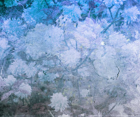 Blue Vintage Flower Texture photo