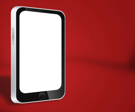 Smartphone Red Background Stock Photo - 17779609
