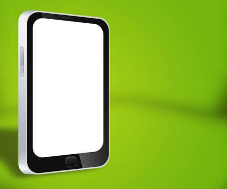 Smartphone Green Background Stock Photo - 17779628