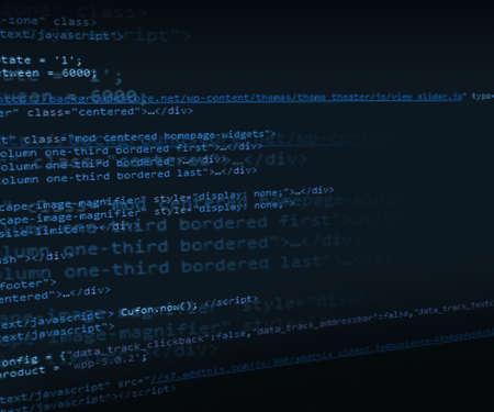 Blue HTML Code Background Stock Photo - 17779615