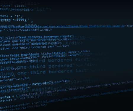 Blue HTML Code Background Stock Photo - 17779615