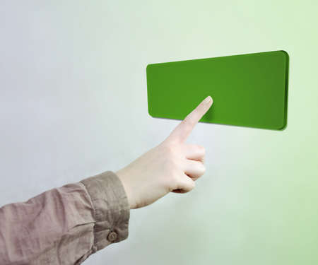 Touched Green Button Stock Photo - 17932675