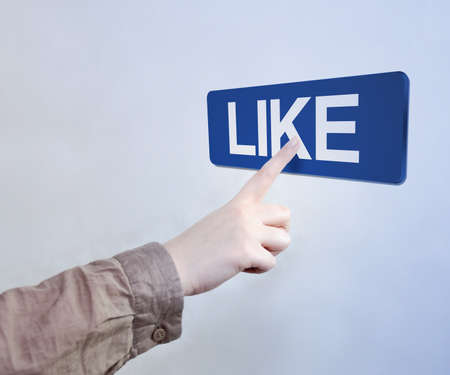 Touched Like Button Stock Photo - 17932683