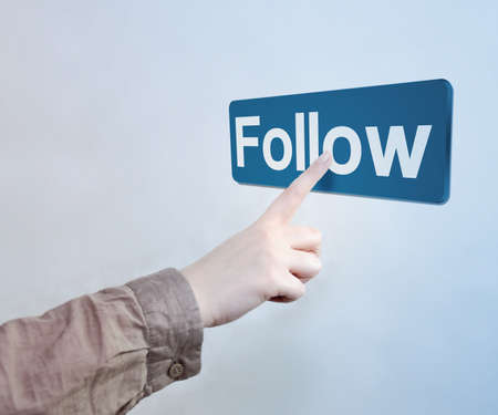 Touched Follow Button Stock Photo - 17932682