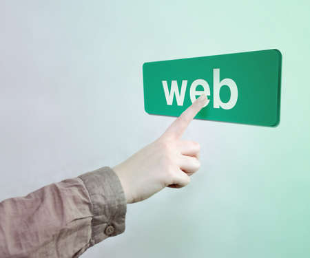 Touched web Button Stock Photo - 17932678