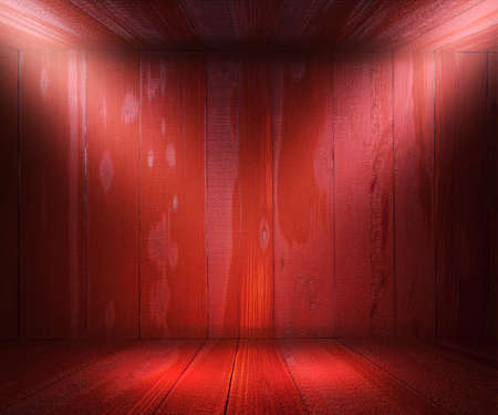 Red Wooden Spotlight Room Background Stock Photo - 17932763