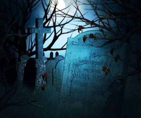 Dark Graveyard Background photo