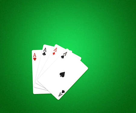 Casino Cards Background Green Texture photo