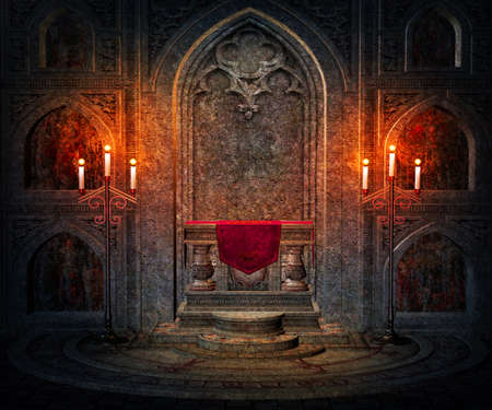 gothic design: Dark Interior Gothic Background