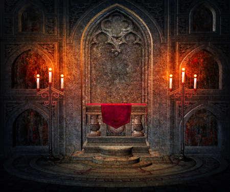 gothique: Fonc� de fond de l'Int�rieur gothique Banque d'images