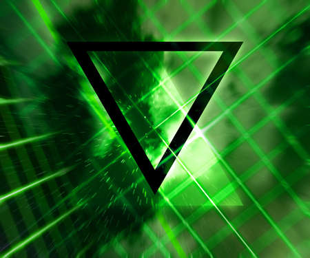 daft: Green Daft Punk Abstract Background