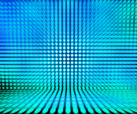 Blue Leds Light Stage Background Stock Photo