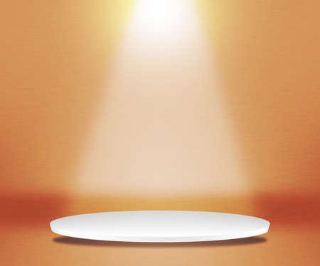 Round Podium Orange Background photo