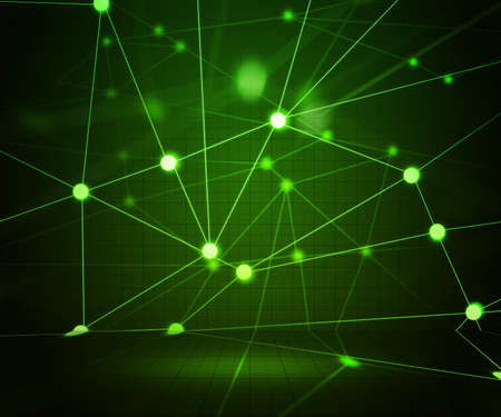 Green Network Stage Background photo