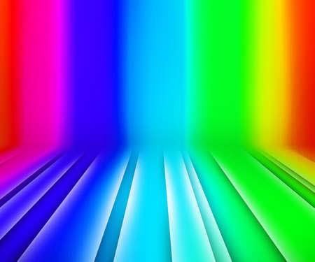 glowing skin: Glowing Stripes Rainbow Stage Background
