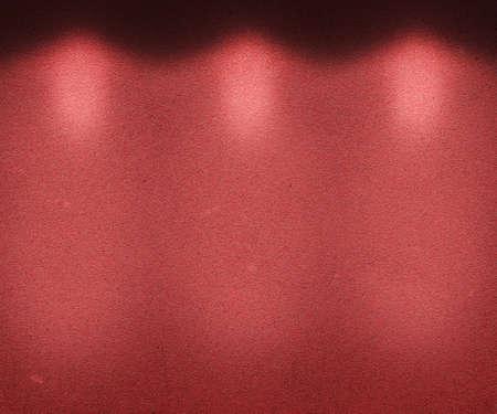 Red Illuminated Wall photo