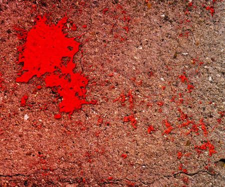 Blood on Grunge Wall Background photo