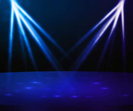 Blauwe podium met Spotlight Achtergrond