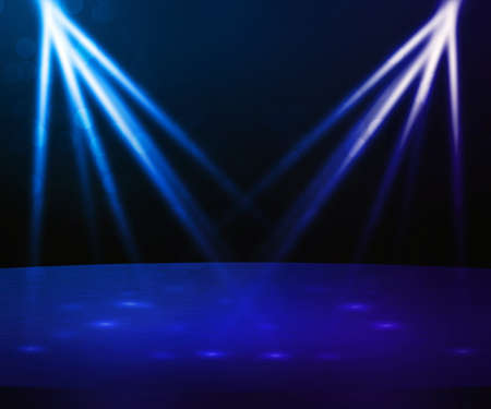 Blue Stage with Spotlight Backdrop photo