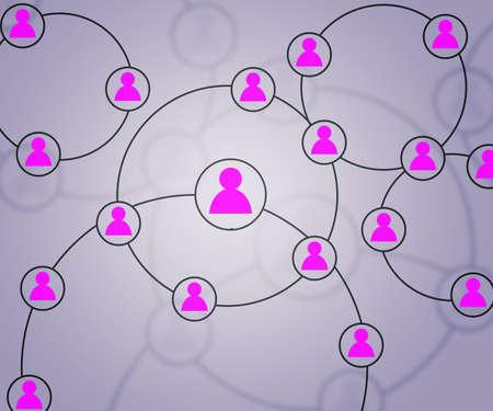 Pink Social Circles Network Backdrop Image photo