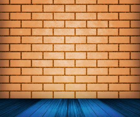 Orange Brick Room Backdrop photo