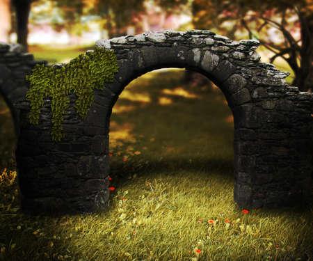 Stone Arch Fantasy Background photo