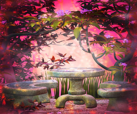 Magic Garden Background photo