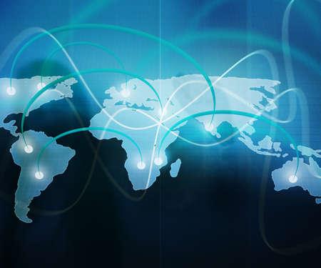 World Map Business Background photo