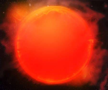 Sun Star Outer Space Backdrop Stock Photo - 21138488