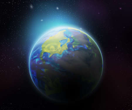 Earth Space Backdrop Stock Photo - 21138523