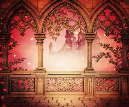 Palace Balkon Hintergrund Standard-Bild - 21540845