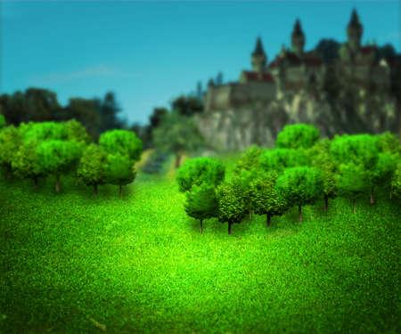 kingdom of heaven: Hill Fantasy Backdrop