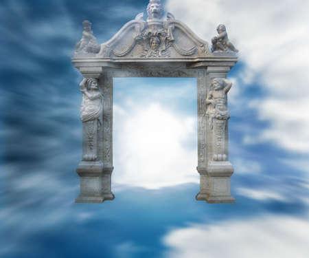Gate to Heaven Fantasy Background Stock Photo