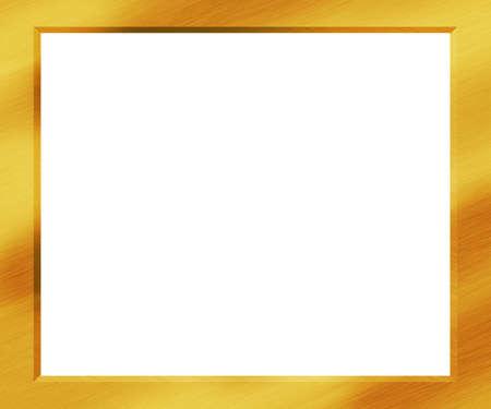 Gold Metal Frame Stock Photo - 21540990