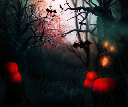 dark forest halloween backdrop stock photo 23838353